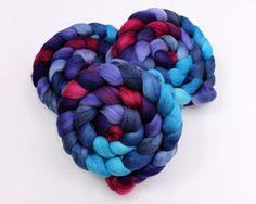 Polwarth Wool / Silk Roving  Hand painted by woolgatherings