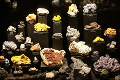 One of several mineral displays at the Royal Alberta Museum