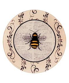 Another great find on #zulily! Cream Vintage Honey Bee Round Trivet #zulilyfinds