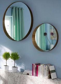 GMK Home & Living veidrodis Home And Living, Living Rooms, Interior Decorating, Mirror, Metal, Lei, Furniture, Product Design, Home Decor