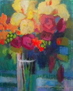 Yellow Iris by Annie OBrien Gonzales