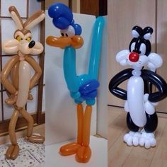 Beep beep, Will E. Coyote e gatto Silvestro di palloncini modellabili
