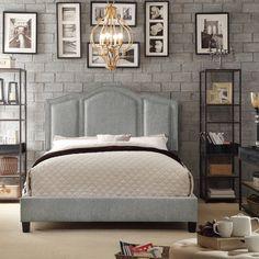 *****Moser Bay Furniture Belita Grey Upholstery Platform Bed