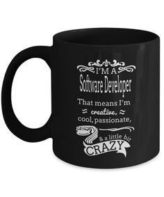 Crazy Software Developer Mug  #gift#SoftwareDeveloper #software #developer #ComputerProgrammer #SoftwareDevelopment $17.95