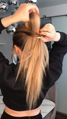 Work Hairstyles, Easy Hairstyles For Long Hair, Pretty Hairstyles, Back To School Hairstyles, Hairdos, Summer Hairstyles, Updos, Hair Upstyles, Bad Hair