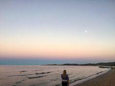 Pink sunset #me #sunset #Vieste #summer #Puglia #Italy