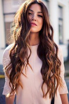 1 Le Fashion Blog Long Hair Inspiration Negin Mirsalehi Brunette Brown Wavy Ombre Pink Top Beauty Photo by lefashion | Photobucket