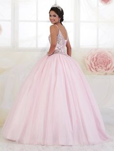 Beaded Sweetheart Quinceanera Dress by Fiesta Gowns of Wu Fiesta Gowns-ABC Fashion Pink Formal Dresses, Long Formal Gowns, Quince Dresses, Pink Gowns, 15 Dresses, Pastel Gowns, Princess Ball Gowns, Princess Dresses, Pretty Outfits