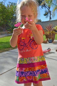 Tshirt dress easy pdf  pattern girl by mackandlilypatterns on Etsy, $7.95