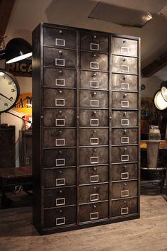 mobilier industriel ancien a clapet deco loft