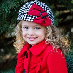 Pretty Poinsettia Girls Kids Hat afae159e941