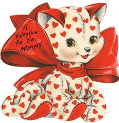 Heart Felt Kitty | Vintage Valentine I bought on Ebay | kelbug | Flickr