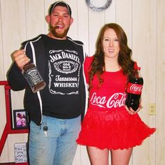 jack and coke costume couple costume idea coke a cola. Black Bedroom Furniture Sets. Home Design Ideas