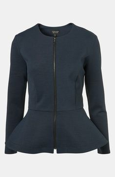 Topshop Peplum Jacket available at #Nordstrom