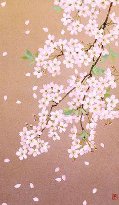 Japanese Landscape, Japanese Art, Asian Flowers, Sakura, Kawaii Drawings, Cute Photos, Medium Art, Chinese Art, Chinoiserie