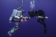 Maybe for online, the Exosuit's dive? I just love the photos...