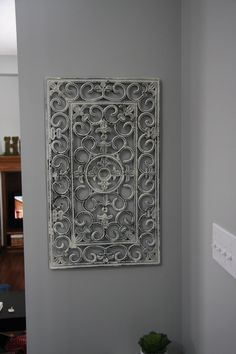 Rubber mat turned shabby chic wall decor