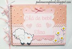 caderno de assinaturas,tema ovelha,scrapbook, aniversario