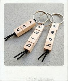 wooden keyhanger with text