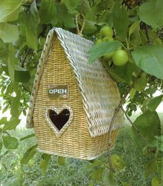 Lovely little woven bird house!