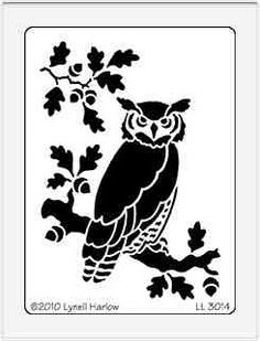 Your favorite shop for all your paper crafting needs Dreamweaver Large Brass Stencil - Owl on Tree Limb<br> Owl Stencil, Stencils, Animal Stencil, Damask Stencil, Stencil Templates, Stencil Patterns, Stencil Designs, Flash Tattoos, Paper Art