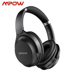 Mpow H12 IPO Active Noise Cancelling Headphones 40h Playtime CVC 8.0 Mic Bluetooth 5.0 Wireless Headset For iPhone Huawei Xiaomi Bluetooth, Wireless Headphones, Noise Cancelling Headphones, Airpod Case, Usb, Iphone, 40 Hours, Product Description, Products