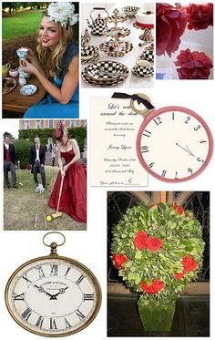 gala tea parti, checker plate, parties, alice in wonderland, birthday idea, wonderland party, red roses, wonderland parti, parti idea