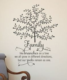Take a look at this 'Family Like Branches' Wall Quote by Wallquotes.com by Belvedere Designs on #zulily today!