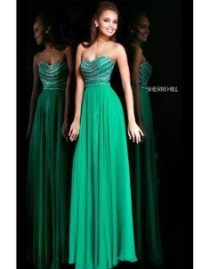 Sherri Hill 8546 Emerald Beaded Strapless 2014 Prom Dress