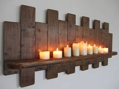Large 107cm Reclaimed pallet wood floating shelf / wine rack /