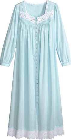 Find comfort in our Eileen West Sea glass Cotton Lawn Sleeveless Ballet Nightdress. Slip into this turquoise sleeveless gown for unparalleled comfort. Night Gown Dress, Cotton Nighties, Stylish Dresses For Girls, Pakistani Fashion Casual, Nightgowns For Women, Kurta Designs, Mode Hijab, Pyjamas, Sleepwear Women