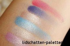Die Farben Pink Jewel, Sand Dollar, Underworld, Sea Shell, Night Sky und Ariel aus der Sleek i-Divine Aqua Lagoon Palette. → http://lidschatten-paletten.de/sleek-i-divine-aqua-collection-lagoon-palette/