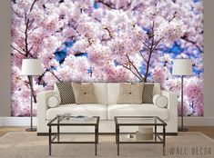 Tree Blossom Photo WALLPAPER MURAL Cherry Sakura Japan Wall ART Room Decor  #Unbranded