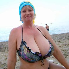 Mature bikini big boobs are not