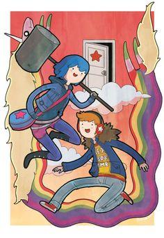 Scott Pilgrim Vs the Shout in Adventure Time style Scott Pilgrim Comic, Adventure Time Style, Bryan Lee O Malley, Ramona Flowers, Vs The World, Cultura Pop, Cartoon Characters, Nerdy, Anime
