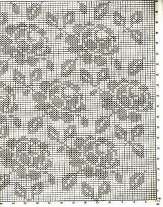 Almofada de crochê filet gráfico