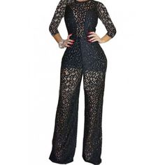 7a20c1917436 Plus Size Black Lace Jumpsuits. Kimberly Parker · jumpsuits · SUPER SEXY  PLUS SIZE HALTER JUMPSUIT Sleeveless Sexy Wide Leg Pants Ro – Butterfly  Boutique ...