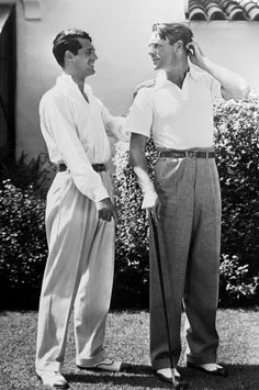 All I'd known of films was Leslie Howard — terrysmalloy: Cary Grant and Randolph Scott at. Hollywood Actor, Golden Age Of Hollywood, Vintage Hollywood, Hollywood Stars, Classic Hollywood, Cary Grant Randolph Scott, Gary Grant, Danny Collins, Divas