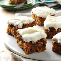 Tropical Carrot Cake Recipe -I look forward to August because our family reunion means fun and great food, like this classic cake with the special flair it gets from pineapple. My great-aunt gave me this recipe Tropical Carrot Cake Recipe, Best Carrot Cake, Taste Of Home Carrot Cake Recipe, Carrot Cakes, Food Cakes, Cupcakes, Cupcake Cakes, Fudge, Great Recipes