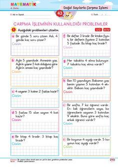 Learn Turkish, English Verbs, Math 2, Homeschool Math, Multiplication, First Grade, Mathematics, Counseling, Worksheets