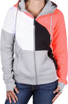Volcom | Nepeta Fleece Full Zip Hoodie - sparrow $74.95