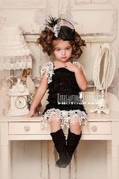 Great Gatsby flower girl dress