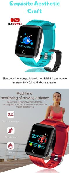 Smart Watch - This smart watch has a new monitoring method, no need to link mobiles phones, anytime, anywhere. It measures blood pressure and monitors of oxygen content in the body. Blood Pressure Chart, Normal Blood Pressure, Fitness Gadgets, Best Abs, Fitness Tracker, Fun Workouts, Videos, Smart Watch, Food Lists