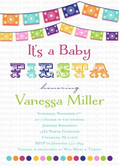 baby shower invitations gender neutral mexican by katiedidesigns, $13.00