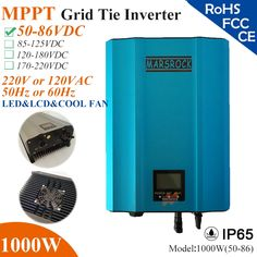 210.00$  Watch here - http://alijx1.worldwells.pw/go.php?t=32780629876 - 1000W MPPT solar Grid Tie Micro Inverter with IP65,50-86VDC,220V(190-260VAC) or 120V(90-140VAC),LED&LCD for solar panel system 210.00$