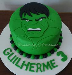 Hulk Birthday Cakes, Hulk Birthday Parties, 4th Birthday, Hulk Party, Cake Meme, Hulk Cakes, Batman Cakes, Avenger Cake, Avengers Birthday