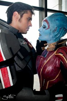 "Mark Meer ""The Voice of Shepard"" and Rana ""The Face of Samara/Morinth"" at Dragon*Con"