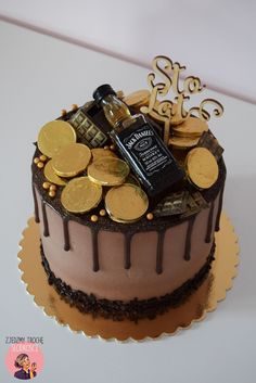 38 ideas birthday cupcakes for men cake recipes for 2019 Birthday Cake For Him, Cool Birthday Cakes, Birthday Cupcakes, Food Cakes, Cupcake Cakes, Jack Daniels Cake, Alcohol Cake, Gateaux Cake, New Cake