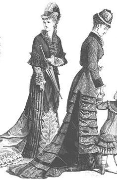 History Natural Form; 1878 day dress