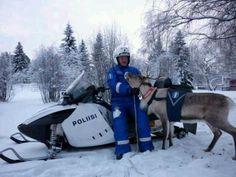 Finnish Police in Winter gear!
